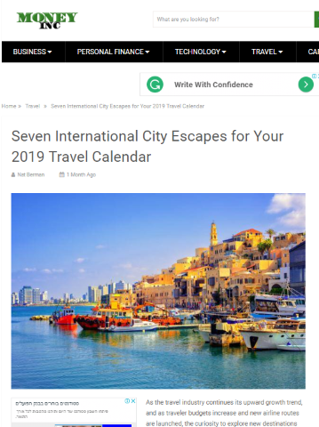 Travel guest post example