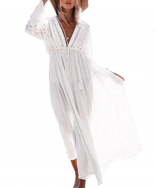 Barlver Womens Chiffon Kimono Cardigan Swimsuit